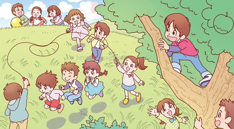 子供のイラスト(コンビニ限定楽しいまちがい絵さがし VOL.13)