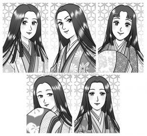 源氏物語の女性たち イラストカット