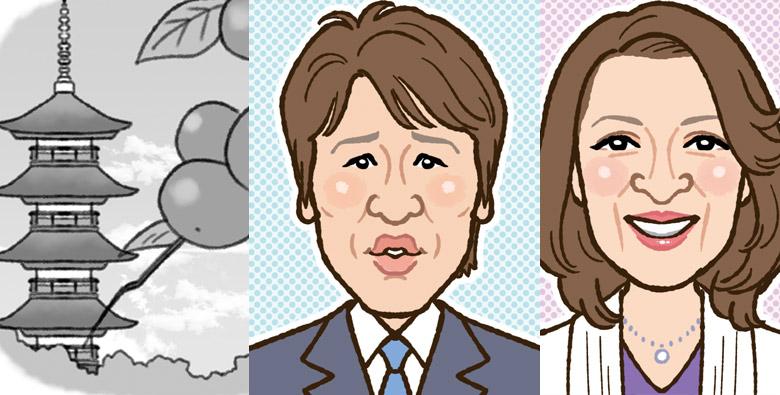 文化人の似顔絵・正岡子規俳句のお仕事イラスト