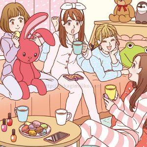 女の子たちのイラスト