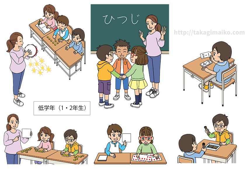 令和2年度版 小学校算数教科書「たのしい算数」(大日本図書株式会社)イラスト(低学年)